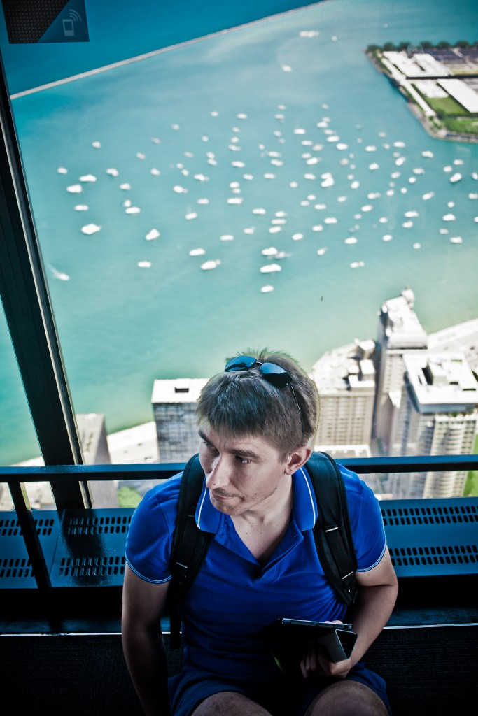 Wojciech Bury at the Willis Tower